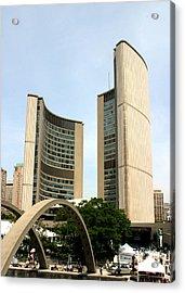City Hall Canada Day Acrylic Print