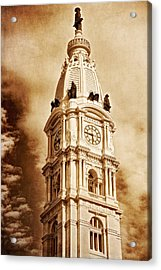 Tower Of City Hall - Downtown Philadelphia - One Penn Square Acrylic Print
