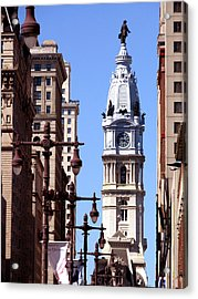 Acrylic Print featuring the photograph Philadelphia City Hall From Broad St by Christopher Woods