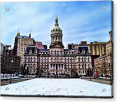 City Hall In Baltimore Acrylic Print