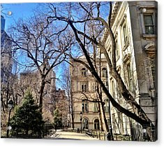 City Hall Park Ny Acrylic Print by Lorella  Schoales