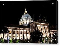 City Hall San Francisco At Night Acrylic Print by Jim Fitzpatrick