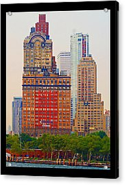 City High Acrylic Print by B Wayne Mullins