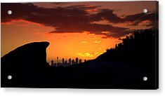 Acrylic Print featuring the photograph City In A Palm Of Rock by Miroslava Jurcik