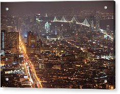 Acrylic Print featuring the photograph City Lava by Peter Thoeny