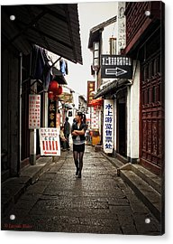 Acrylic Print featuring the photograph City Life In Ancient China by Lucinda Walter