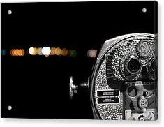 City Lights In Bokeh Acrylic Print by Andrew Crispi