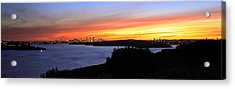 Acrylic Print featuring the photograph City Lights In The Sunset by Miroslava Jurcik