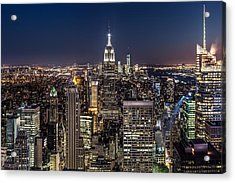 Acrylic Print featuring the photograph City Lights by Mihai Andritoiu