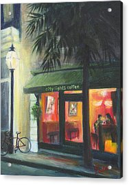 City Lights On Market St. Acrylic Print