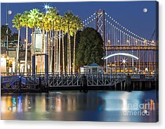 Acrylic Print featuring the photograph City Lights On Mission Bay by Kate Brown