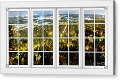 City Lights White Window Frame View Acrylic Print by James BO  Insogna