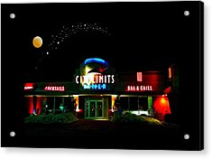 City Limits Diner Under Stars Acrylic Print