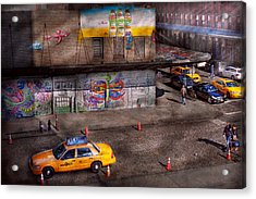 City - New York - Greenwich Village - Life's Color Acrylic Print by Mike Savad