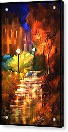 City Nights Acrylic Print by Steven Lebron Langston