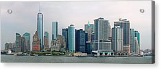 City - Ny - The Financial District Acrylic Print by Mike Savad