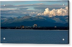City Of Anchorage  Acrylic Print by Andrew Matwijec