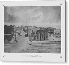 City Of Atlanta 1863 Acrylic Print by War Is Hell Store