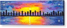 City Of Lights Acrylic Print by Jessilyn Park