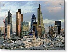 City Of London Brand New Skyline 2014 Acrylic Print by Vladimir Zakharov