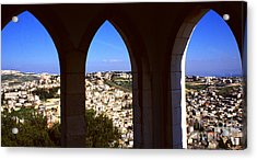 City Of Nazareth Acrylic Print by Thomas R Fletcher