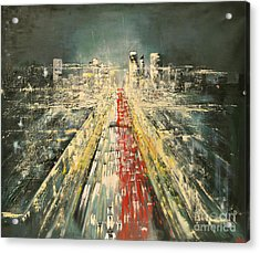 City Of Paris Acrylic Print by Maja Sokolowska