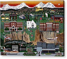 Acrylic Print featuring the painting City Of Redmond by Jennifer Lake