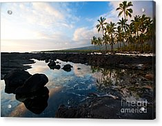 City Of Refuge Beach Acrylic Print by Mike Reid