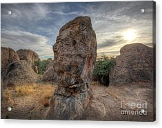 Acrylic Print featuring the photograph City Of Rocks by Martin Konopacki