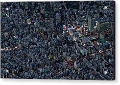 City Of The Beautiful Night View Acrylic Print by Kokouu