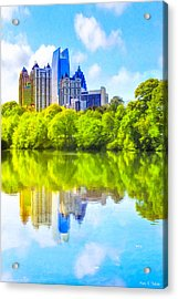 Acrylic Print featuring the photograph City Of Tomorrow - Atlanta Midtown Skyline by Mark E Tisdale