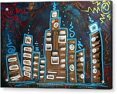 City Of Two Suns Acrylic Print by Laura Barbosa