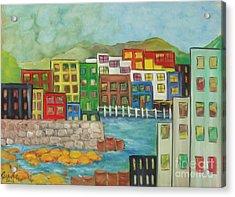 City On The Canal Acrylic Print