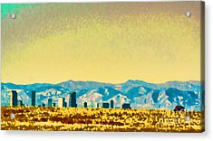 Acrylic Print featuring the photograph City On The Plains by Catherine Fenner