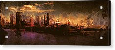 City On The Sea Acrylic Print by Lonnie Christopher