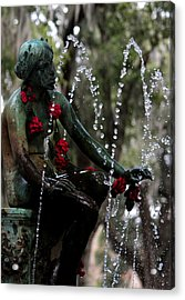 City Park Fountain II Acrylic Print
