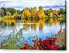 City Park Lake Acrylic Print by Keith Ducker