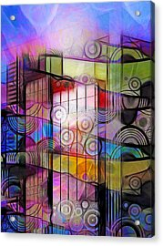 City Patterns 3 Acrylic Print by Lutz Baar