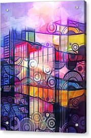City Patterns 4 Acrylic Print by Lutz Baar