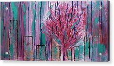 City Pear Tree Acrylic Print