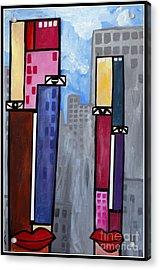 City People Acrylic Print by Kip Krause