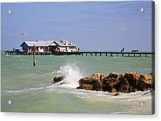 City Pier Anna Maria Island Acrylic Print