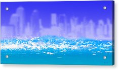 City Rain Acrylic Print by Bob Orsillo