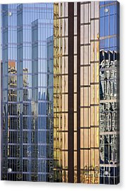 City Reflections Acrylic Print by Sandra Bronstein