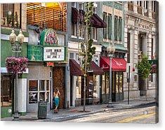 City - Roanoke Va - Down One Fine Street  Acrylic Print by Mike Savad