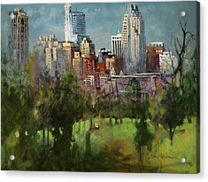 City Set On A Hill Acrylic Print