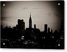 Acrylic Print featuring the photograph City Silhouette by Sara Frank
