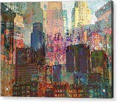 City Skyline Abstract Scene Acrylic Print