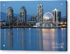 City Skyline -vancouver B.c. Acrylic Print