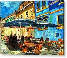 City Street Cafe Acrylic Print